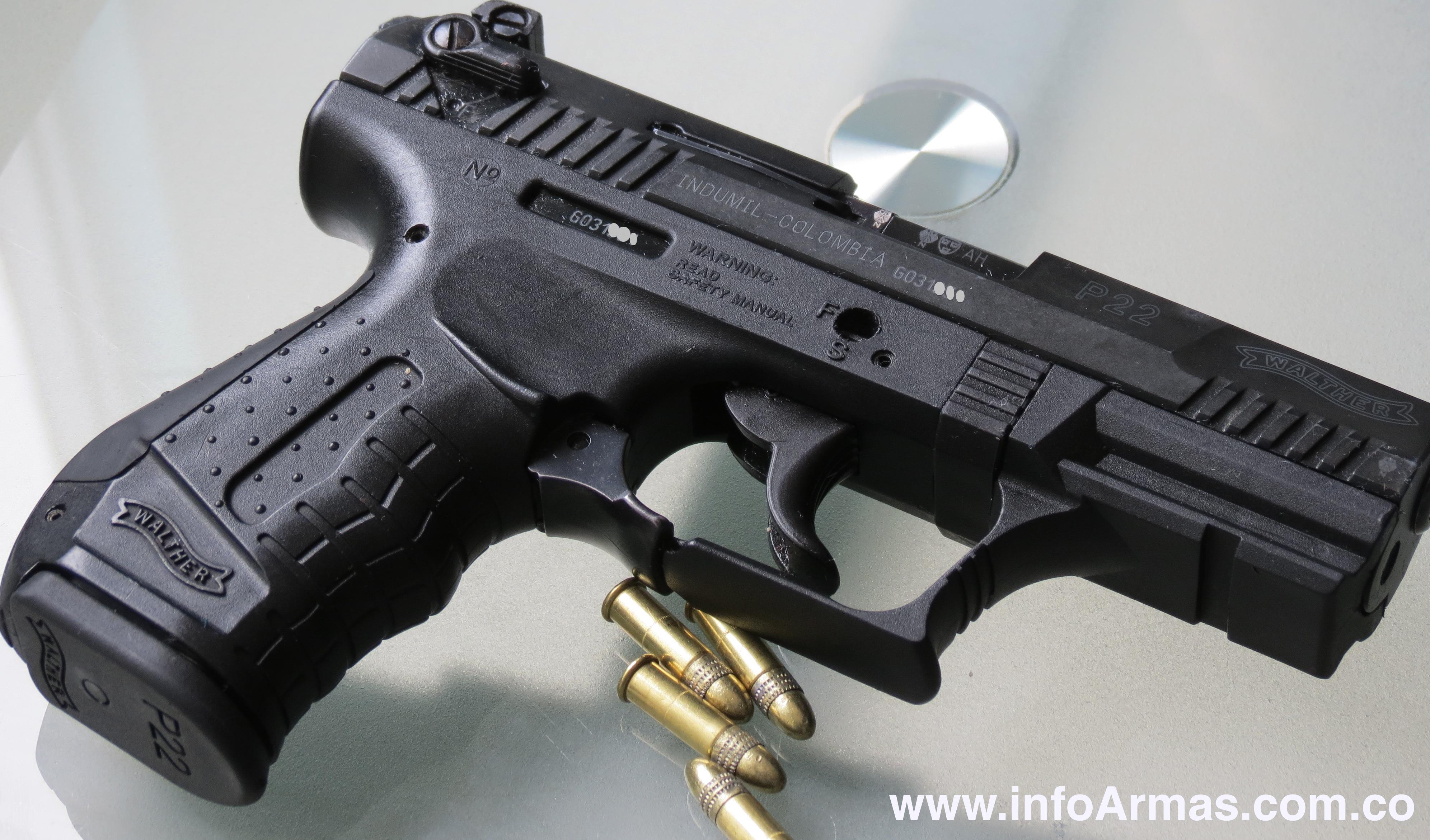 Pistola Walther P22 Calibre 22l Capacidad De Carga 10