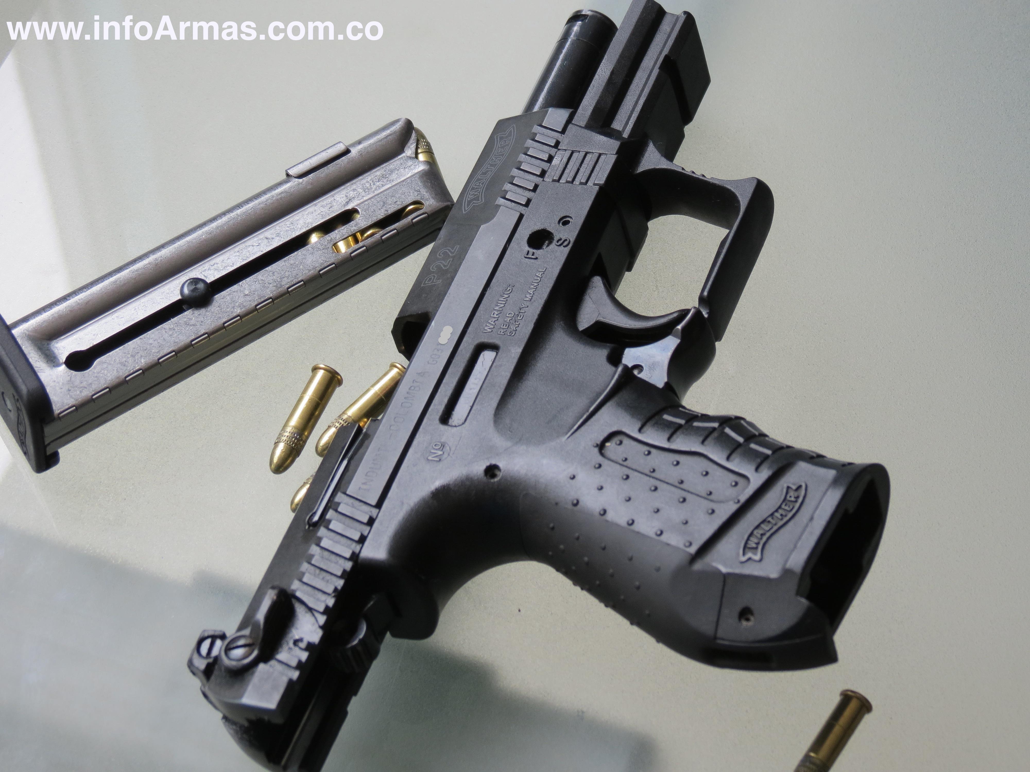 Pistola Walther P22 calibre 22L Capacidad de carga 10 cartuchos PRECIO $  3.670.000 mas Asesoría. | BIENVENIDOS AL BLOG DE INFOARMAS